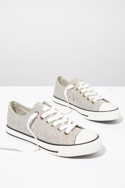 Jodi Low Rise Sneaker 1, GREY MULTI TEXTURE