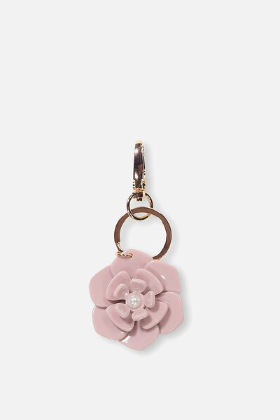 Flower Bag Charm, DESERT ROSE