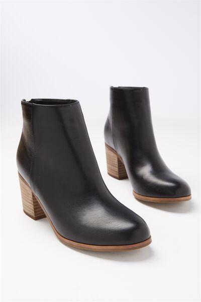 Clyde Zip Boot, BLACK