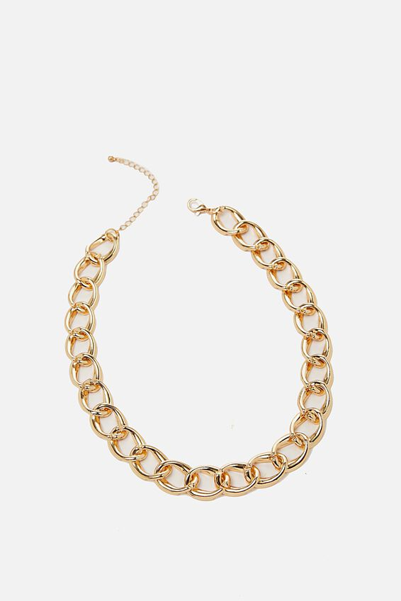 Katie Classic Chunky Chain Necklace, GOLD
