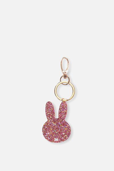 Miffy Bag Charms, PINK GLITTER