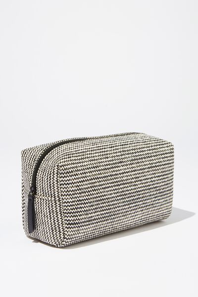 Marlee Cosmetic Case, BLACK/ WHITE WOVEN