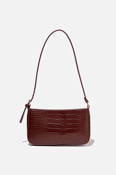 Lexi Underarm Bag, BROWN TEXTURE