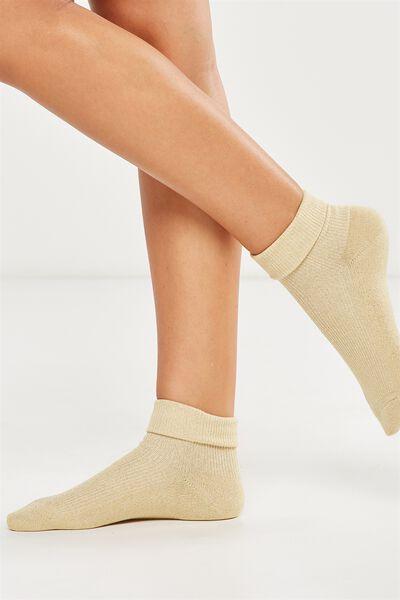 Glinda Rib Sparkle Sock, CHAMPAGNE SPARKLE