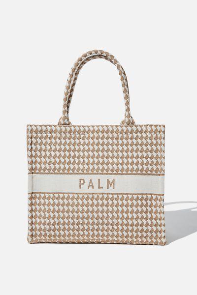 Weekender Tote Bag, MONO BRUSH/PALM
