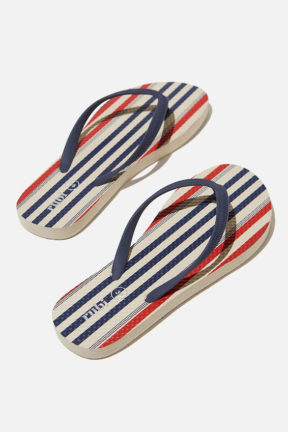 The Rubi Flip Flop, RETRO STRIPE ECRU