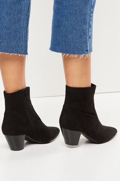 Pitt Pointed Boot, BLACK MICRO