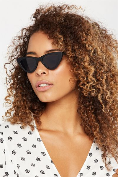 Narrah Short Frame Cateye, MATTE BLACK