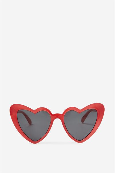 Lucky Heart Sunglasses, RED