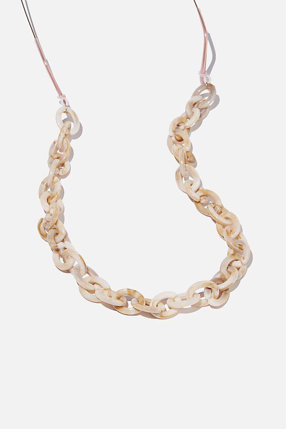 Selina Glasses Chain, ACRYLIC ECRU