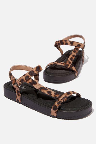 Malmo Flatform Sporty Sandal, ANIMAL MICRO