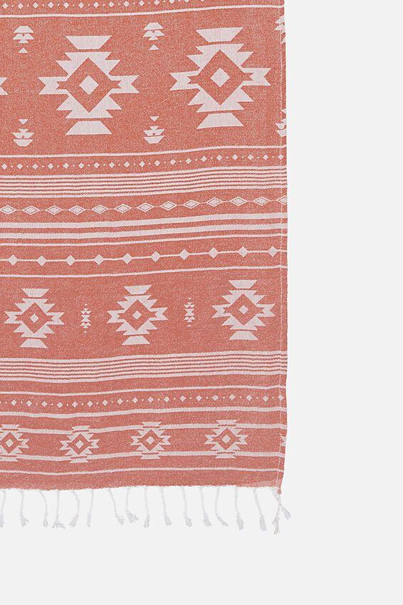 Burleigh Lightweight Towel, RUST AZTEC
