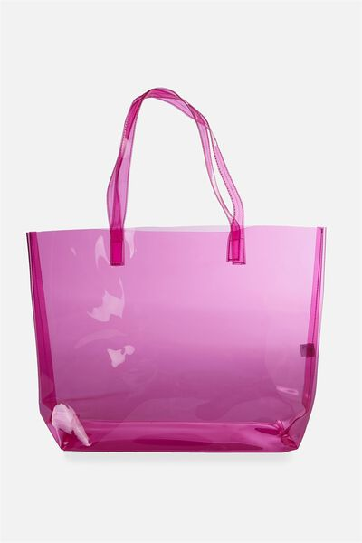 Crystal Clear Tote, PINK