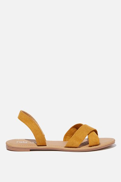 Everyday Banting Crossover Sandal, MUSTARD MICRO