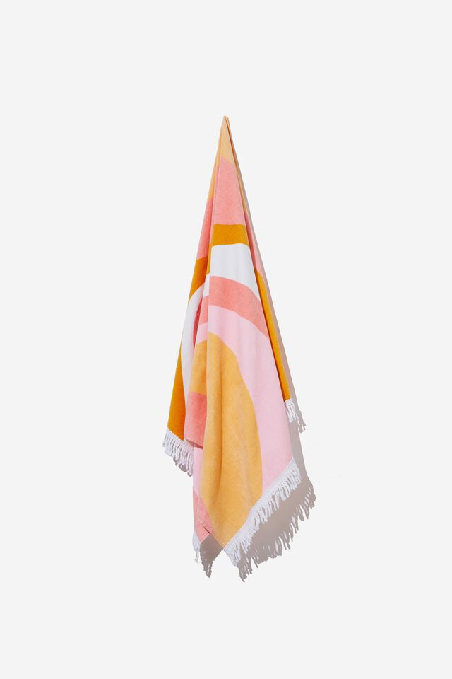 Bondi Rectangle Towel, SOPHIA SWIRL BUBBLEGUM