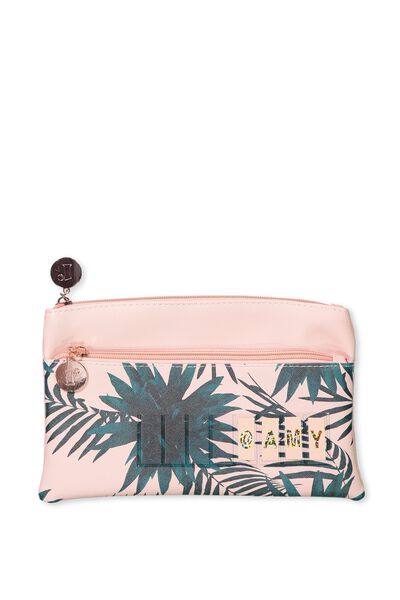 Personalised Dual Zip Cosmetic Case, CHINTE ROSE PALM