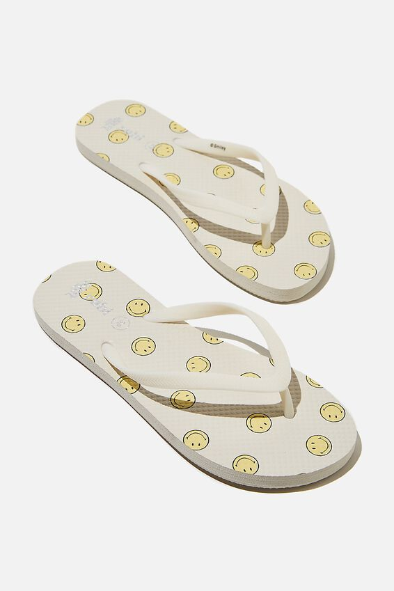 The Rubi Flip Flop, LCN SMI WHITE SMILEY