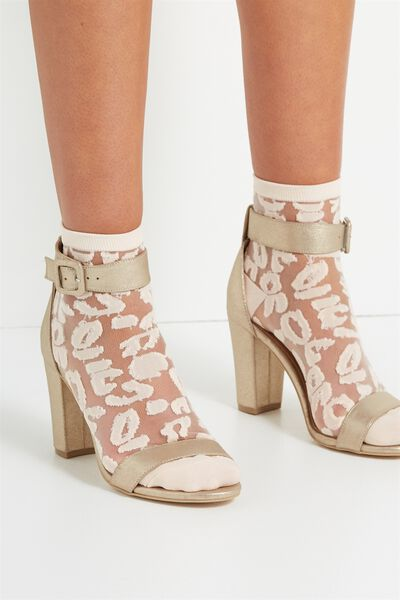 Sherry Sheer Sock, BLUSH LEOPARD