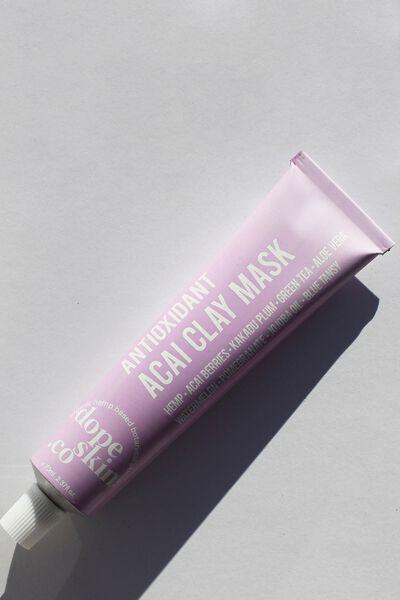 Dope Skin Co Antioxidant Acai Clay Mask, ACAI CLAY