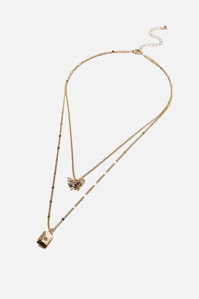 Luxe Layers Multi Necklace, GOLD