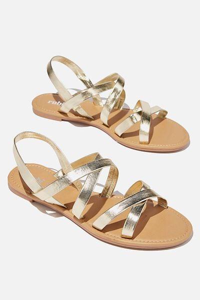 Lucy Strappy Slingback Sandal, GOLD PU