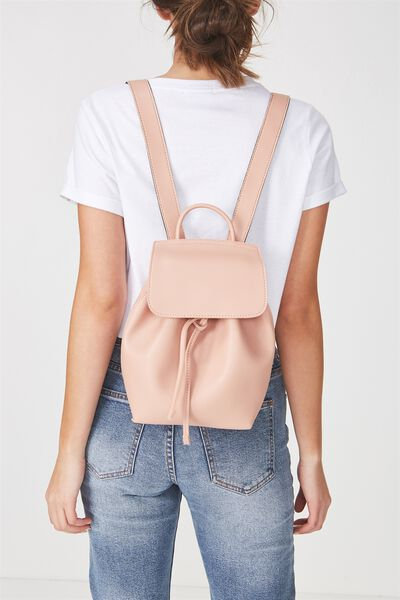 Luella Drawstring Backpack, BLUSH
