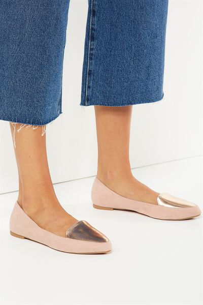 Peta Point Loafer, BLUSH MICRO ROSE GOLD