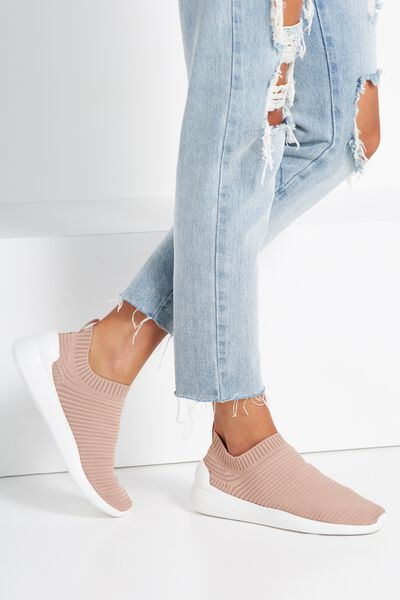 Kiesha Slip On Trainer, BLUSH