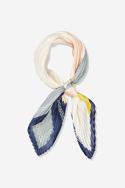 Soho Broadway Pleat Scarf, CARLY COLOUR BLOCK