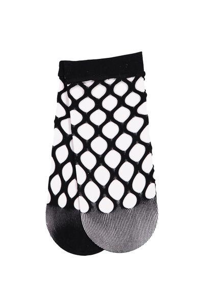 Freida Fancy Sock, HOLEY FISHNET