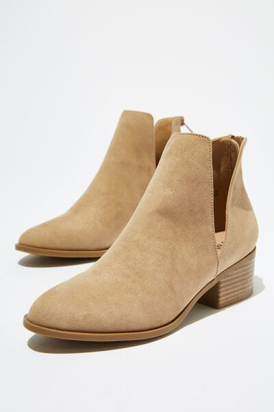 Eastwood Cut Out Boot, TAUPE