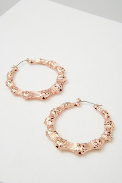 Molten Hoop Earring, ROSE GOLD