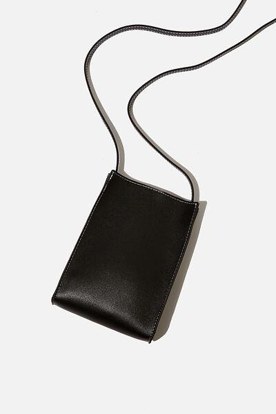 Connie Vertical Bag, BLACK