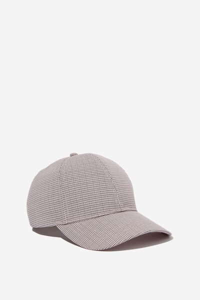 Selina Structured Cap, ROSE BLOOM MICRO CHECK