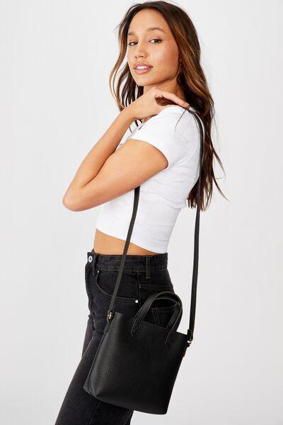 Monique Mini Cross Body Bag, BLACK