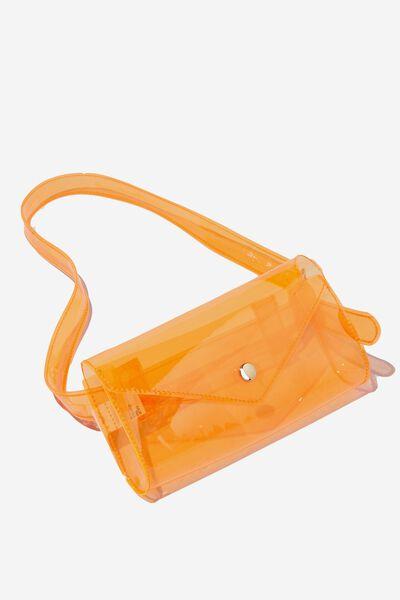Transparent Belt Bag, ORANGE
