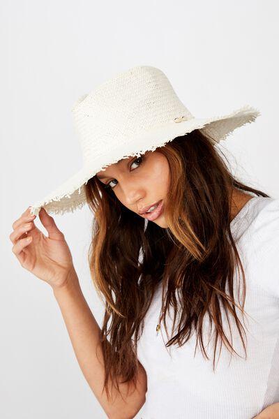 Sienna Woven Panama, WHITE
