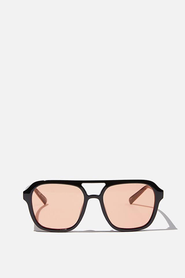 Jaz Oversized Aviator Sunglasses, BLACK