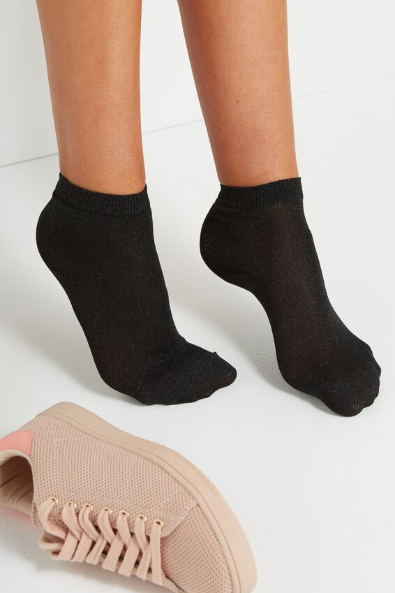 Dorothy Sparkle Sock, BLACK