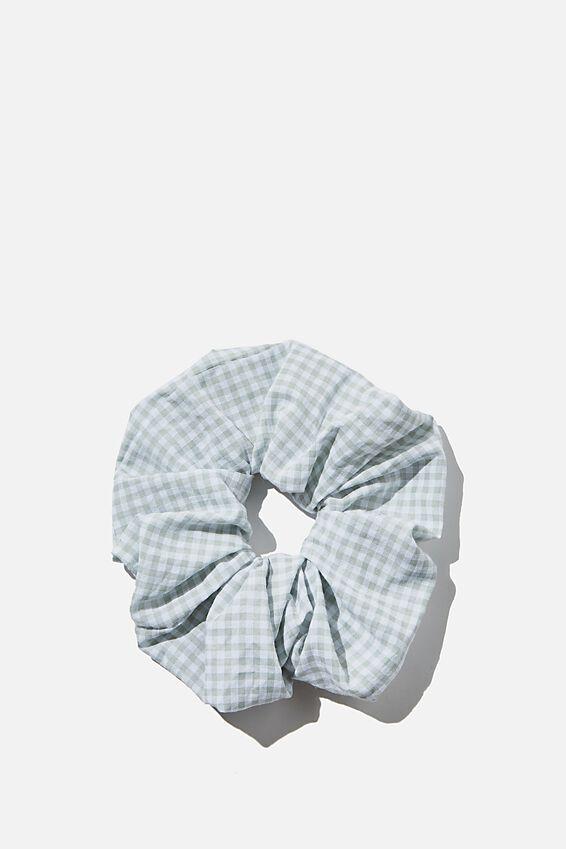 Super Scrunchie, SAGE GINGHAM CHECK