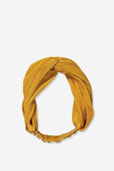 Manhattan Headband, MUSTARD PLEAT