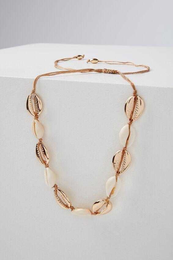 Cottesloe Necklace, NATURAL/GOLD
