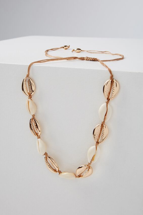 Cottesloe Necklace, NATURAL/GOLD