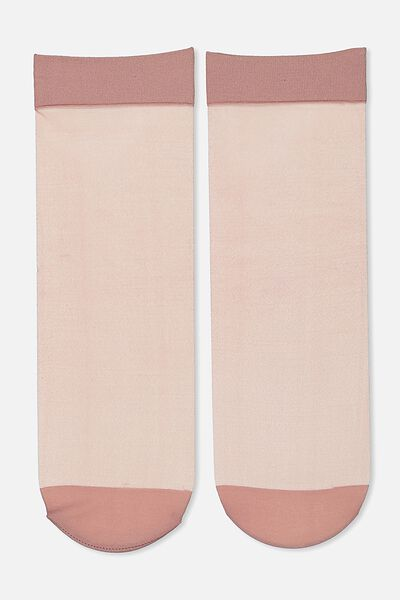 Poppy Sheer Sock, BLUSH