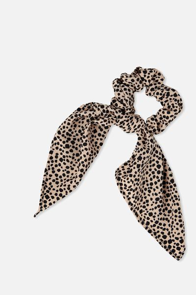 Maddison Scarf Scrunchie, NEUTRAL ANIMAL
