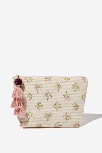 Large Pouch, LUCY HANDKERCHIEF FLORAL PASTRY