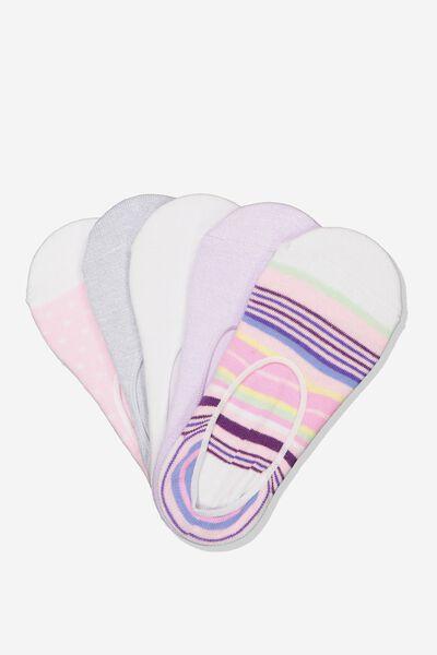5Pk Low Cut Sock, BRIGHT TILLY STRIPE
