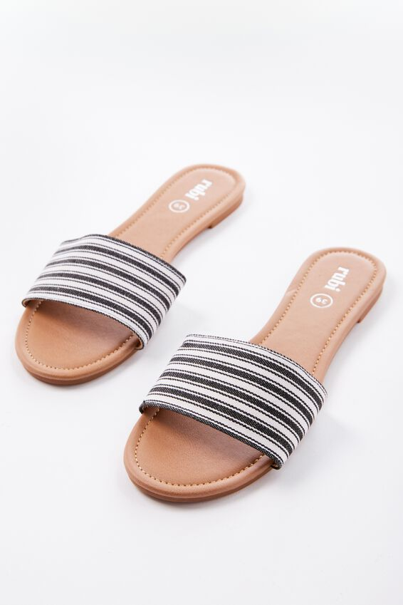 Everyday Slide, MONO WOVEN STRIPE