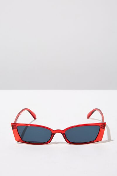 Tayla Square Frame Sunglass, CRYSTAL SUNSET
