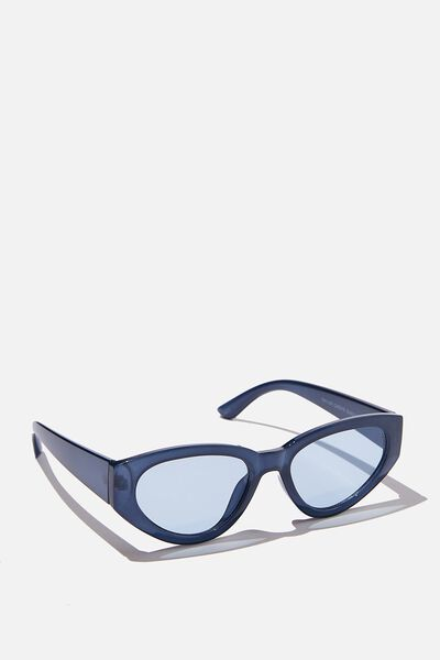 Taylor Cateye Sunglasses, BLUE/BLUE